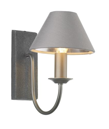 Herriot single wall light in pewter, fitting only HER0767 (7-10 day delivery)